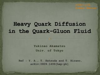 Heavy  Quark  Diffusion in the Quark-Gluon Fluid