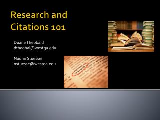 Research and Citations 101