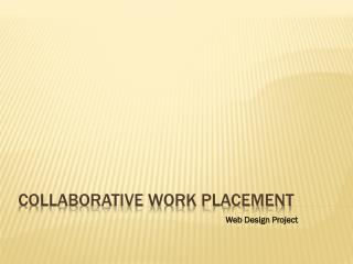 Collaborative Work Placement