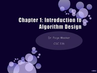 Chapter 1: Introduction to Algorithm Design