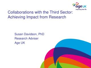 Collaborations with the Third Sector: Achieving Impact from Research