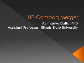 HP-Compaq Merger