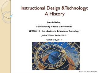 Instructional Design &Technology:  A History