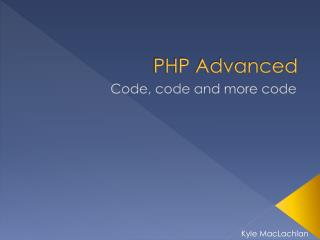 PHP Advanced