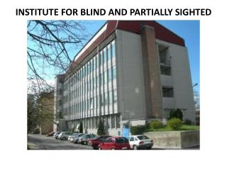INSTITUTE FOR BLIND AND PARTIALLY SIGHTED CHILDREN (ZSSM),  LJUBLJANA ( November 2013 )