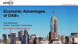 Economic Advantages of DAB+
