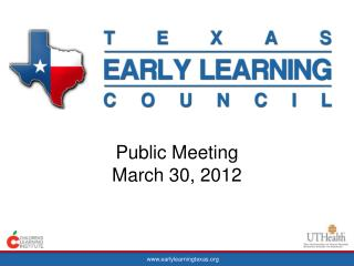 Public Meeting  March 30, 2012