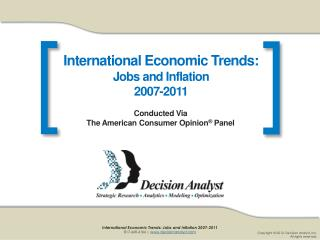 International Economic Trends:  Jobs and Inflation 2007-2011