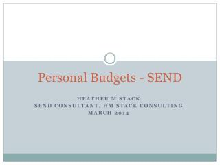 Personal Budgets - SEND