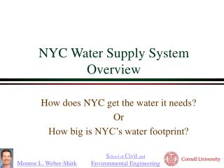 nyc water supply system overview