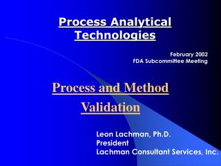process analytical technologies