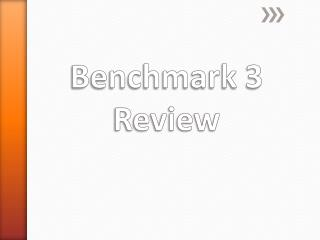 Benchmark 3 Review