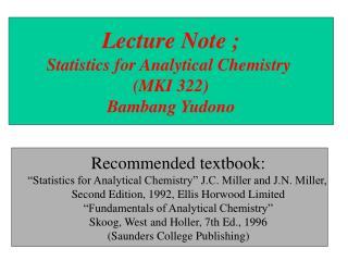 errors in chemical analysis