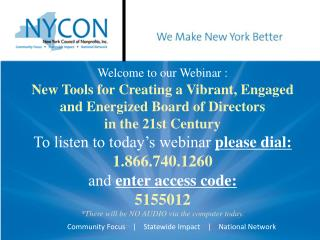 New  Tools for Creating a Vibrant, Engaged and Energized Board of Directors in the 21st Century