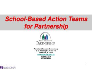 Parent  and Educator Partnership 25 S. Washington, Suite 106 Naperville, IL 60540 www.pepartnership.org 630 428 3979 87
