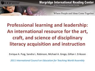 Professional learning and leadership: An international resource for the art, craft, and science of disciplinary literac