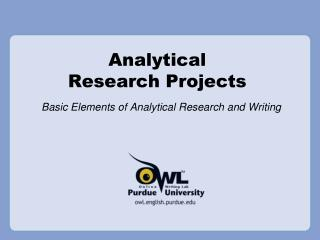 analytical research projects