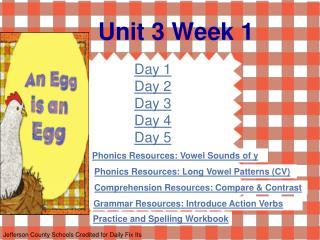 Unit 3 Week 1