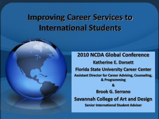Improving Career Services to International Students