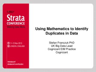 Using Mathematics to Identify Duplicates in Data