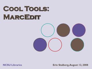 Cool Tools:   MarcEdit