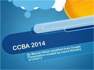CCBA 2014