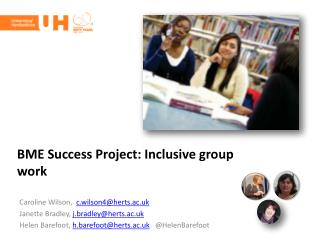 BME Success Project: Inclusive group work