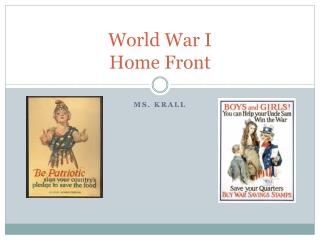 World War I Home Front