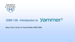 GSM  126 –Introduction  to