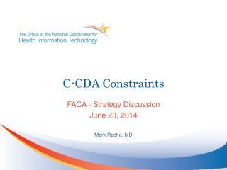 C-CDA Constraints