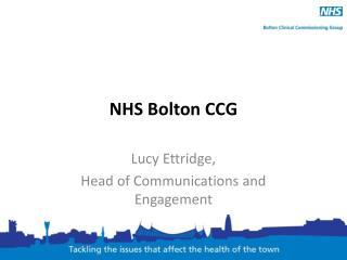 NHS Bolton CCG