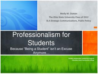 """Professionalism for Students Because """"Being a Student"""" isn't an Excuse Anymore…"""