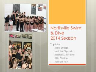 Northville Swim & Dive 2014 Season
