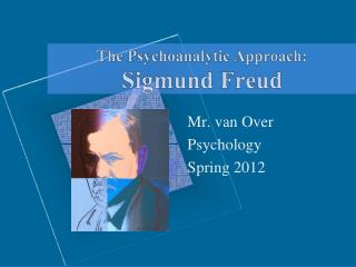 The Psychoanalytic Approach: Sigmund Freud
