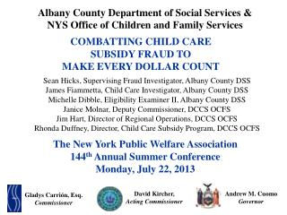 COMBATTING  child care  subsidy FRAUD TO  MAKE EVERY DOLLAR COUNT