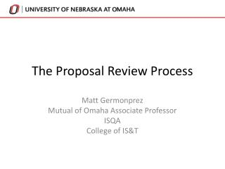 The Proposal Review Process