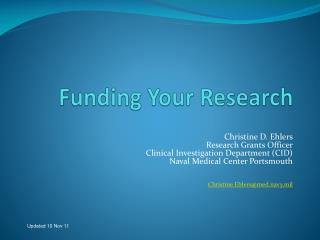 Funding Your Research