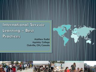 International  Service Learning  – Best Practices