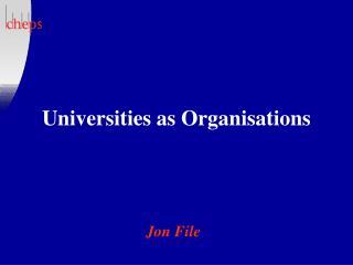 universities as organisations