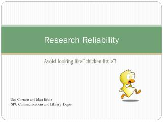 Research Reliability