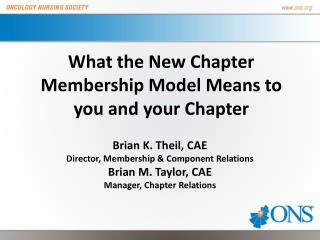 What the New Chapter Membership Model Means to you and your Chapter