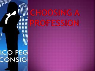 Choosing a profession