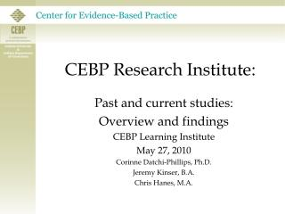 CEBP Research Institute: