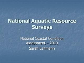 national aquatic resource surveys