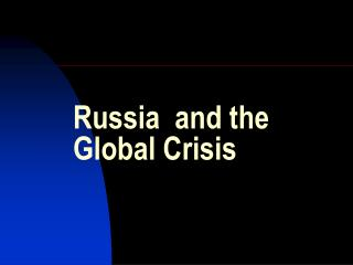 russia and the global crisis