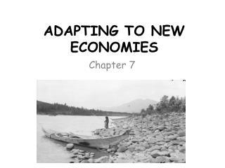 ADAPTING TO NEW ECONOMIES