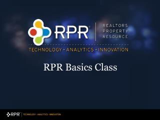RPR Basics Class