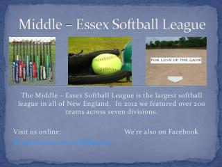 Middle – Essex Softball League