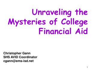 Unraveling the Mysteries of College Financial Aid