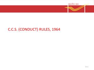 C.C.S. (CONDUCT) RULES, 1964